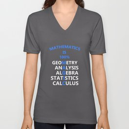 Math is 100 Magic Unisex V-Neck