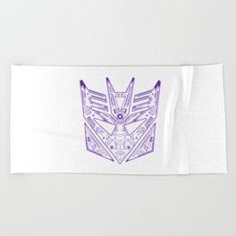 Decepticon Tech Purple Beach Towel