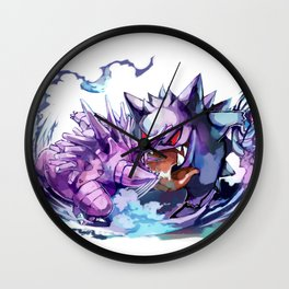 Nidorino vs Gengar Wall Clock