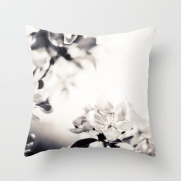 Black and White Flowers 2 Throw Pillow