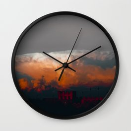 Anvil Cloud Over Castle Wall Clock