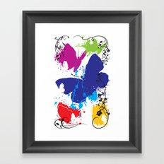 Painted Butterflies Framed Art Print