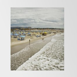 Versilia Italy Beach Ocean Coast View Vertical Throw Blanket