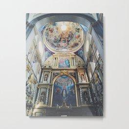 Cathedral Puebla Mexico Metal Print