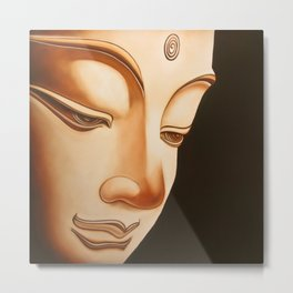 Tranquil oil painting of a peaceful Buddha  Metal Print