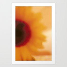 liquid sunflower Art Print