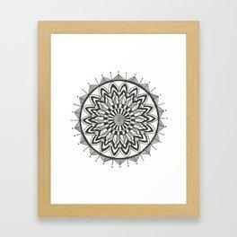 Zehra Mandala Framed Art Print