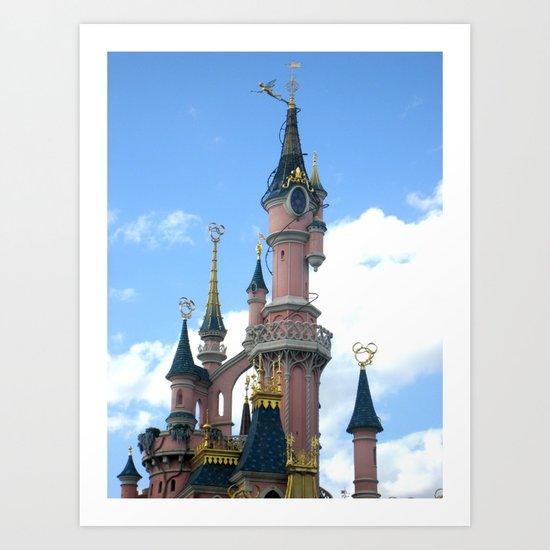 Disneyland Castle Paris Art Print