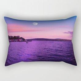Full Moon at Sunset Over the Isle of Mull Rectangular Pillow