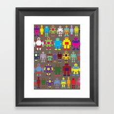 Robot Army Framed Art Print