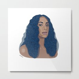 Solange // Cranes In The Sky // Illustration Metal Print