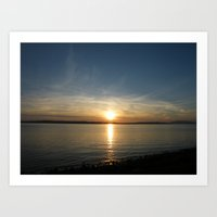 Millport Sunset, Scotland Art Print