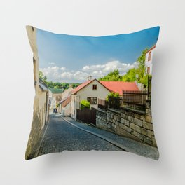 A street in Turnov Throw Pillow