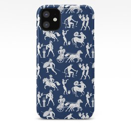 Greek Figures // Dark Blue iPhone Case