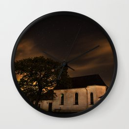 House on a hill Wall Clock
