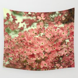 PRETTY PINK DOGWOOD TREE FLOWERS Wall Tapestry