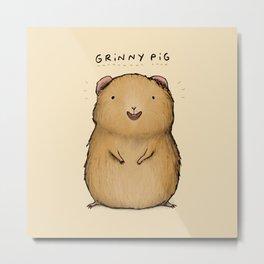 Grinny Pig Metal Print