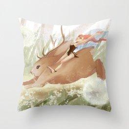 Frolicking Throw Pillow
