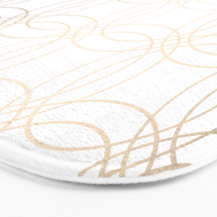 Simply Vintage Link in White Gold Sands on White Bath Mat