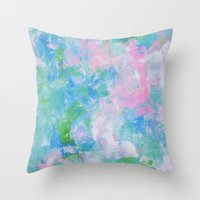monet Throw Pillows featuring Monet by Shirleen Wong Studio