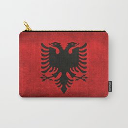 National flag of Albania with Vintage textures Carry-All Pouch