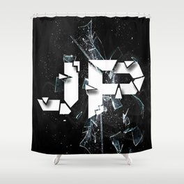 JP Logo Shower Curtain