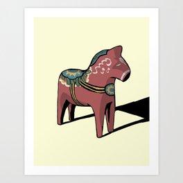 It's a horse! Art Print