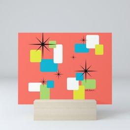Living Coral Retro Inspired Mini Art Print