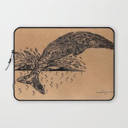 rubbish whale coffee ink Laptop Sleeve