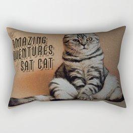 The Amazing Adventures of Sat Cat Rectangular Pillow
