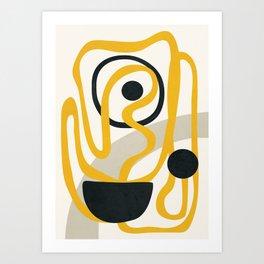 Abstract Yellow Line II Art Print