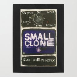 Guitar Pedal Acrylic Painting Poster