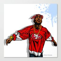 49ers Canvas Prints featuring 49ERS MOOD by Mike Farhat Art Mobb