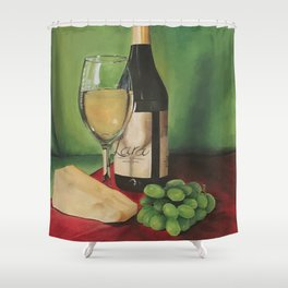 White wine, Still life Shower Curtain