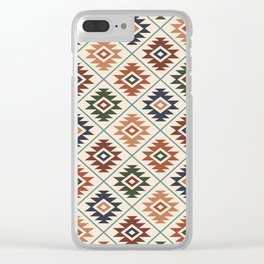 Aztec Symbol Pattern Col Mix Clear iPhone Case