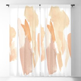 Minimal Art Print Dusty Blush Tones Blackout Curtain