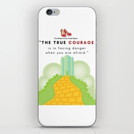 The Yellow Brick Road Ruby Slippers Emerald City L. Frank Baum iPhone Skin