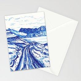 Blue landscape Stationery Cards