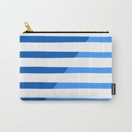 Beach Stripes Blue Carry-All Pouch
