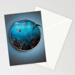 Portal Bajo el mar Stationery Cards