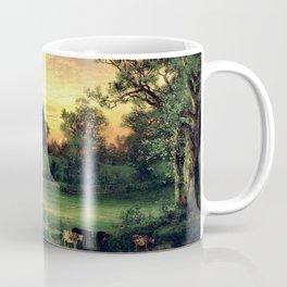 East Hampton, The Hamptons, Long Island Pastoral Sunset landscape painting by Thomas Moran Coffee Mug