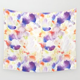 Abstract Washy Watercolour Splodges Wall Tapestry