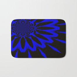 The Modern Flower Black and Blue Bath Mat