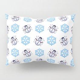 C1.3D Snowmoji Pillow Sham