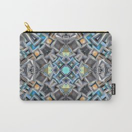 Colorful Geometric Structure Carry-All Pouch
