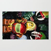metroid Area & Throw Rugs featuring LEGO Metroid!! by Meteo Designs