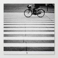 bike Canvas Prints featuring BIKE by TOM MARGOL
