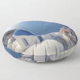 Santorini island in Greece Floor Pillow