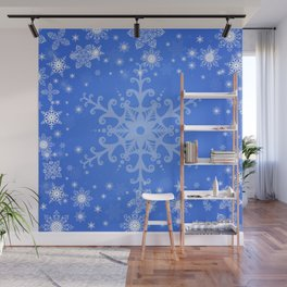 Snowflake background Wall Mural