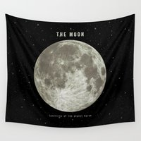 astronomy Wall Tapestries featuring The Moon  by Terry Fan